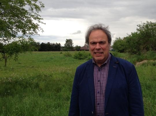 Marc Maes bij projectgebied Breedsteert